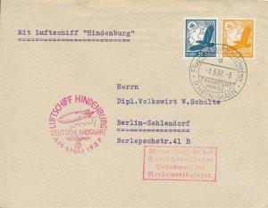Cover Hindenburg 1937 Zeppelin Germany LZ129 Airship Last Flight Hitler Berlin