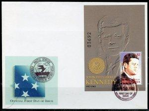 MICRONESIA 2002 JOHN FITZGERALD KENNEDY  SOUVENIR SHEET FIRST DAY COVER