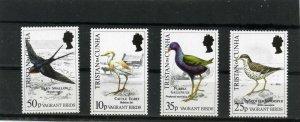 TRISTAN DA CUNHA 1989 FAUNA BIRDS SET OF 4 STAMPS MNH