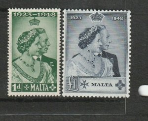 Malta 1948 Wedding set UM/MNH SG 249/50