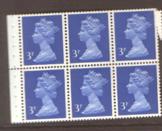 GB booklet pane SG X855 NHM
