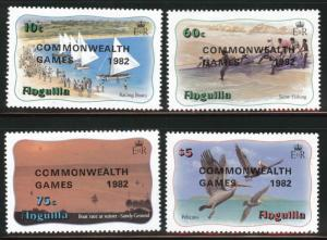 ANGUILLA Scott 507-510 MNH** 1982 set