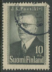 Finland - Scott 263 - Pres. Juho K. Passikivi -1947- Used - Single 10m stamp