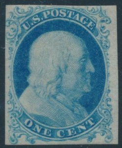 #40PA 1c 1875 PROOF ON STAMP PAPER WITH WEISS CERT CV $750 HV293