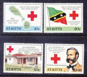 St. Kitts 337-40 MNH 1992 Red Cross Society 50th Anniversary Full Set Very Fine