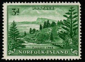 NORFOLK ISLAND SG6a 1959 3d EMERALD-GREEN MNH
