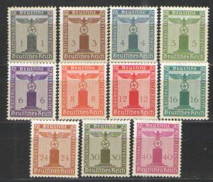 Germany - Third Reich 1942 Sc# S12-S22 MH/NG VG - 1942 Franchise issues