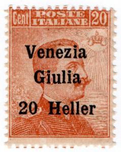 (I.B) Austria Postal : Occupation of Italy 20h on 20c overprint (Venezia-Giulia)