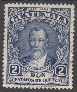 Guatemala, Scott # 235, Used, Borrios