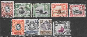 Kenya-Uganda-Tanganyika #66-7,69-70,72,74,77-79 (U) CV$13.00