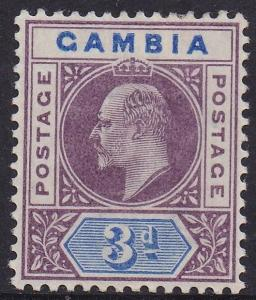 GAMBIA 1902 KEVII KEY TYPE 3D WMK CROWN CA