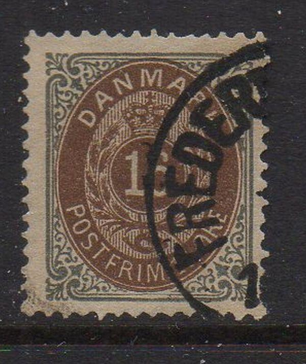 Denmark Sc 30 1875 16 ore slate & brown stamp used