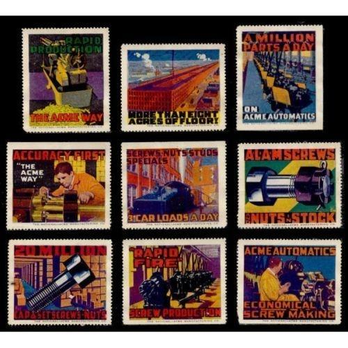 Acme Manufacturing Advertising Poster Stamps