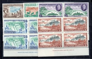 Southern Rhodesia 1953 Cecil Rhodes Block Inscription set MH #71-75 WS15790
