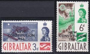 Gibraltar 165-166 MNH (1964)