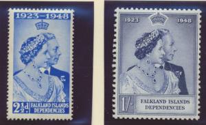 Falkland Islands Dependencies Stamps Scott #1L11 To 1L12, Mint - Free U.S. Sh...