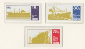 SINGAPORE, 1970 Shipping set of 3, mnh.