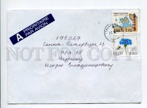 413094 ESTONIA to RUSSIA 2000 year real posted COVER