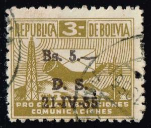 Bolivia #RA21 Postal Tax; Used (0.25)