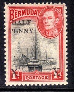 Bermuda 1940 KGV1 1/2d Ovpt on 1d MM SG 122 ( K96 )