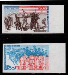 Senegal Scott C141-2 Mint NH imperf (Catalog Value $20.00)