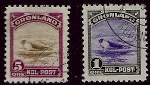 Greenland SC#10-11 Used VF Beautiful SCV$85.00....Fill a key spot!!