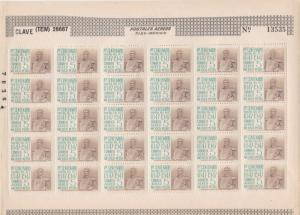 1947 Mexico Battle Centenaries Mint Never Hinged Stamps Sheet Ref 28273