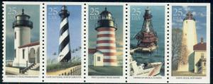 #2474a 25¢ LIGHTHOUSES LOT OF 100 MINT STAMPS, SPICE UP YOUR MAILINGS!