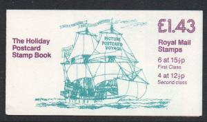 Great Britain Sc BK574 1986 MH93d Machin stamp booklet mint NH