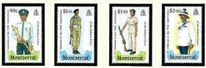 Montserrat 707-10 MNH 1989 Defense Force