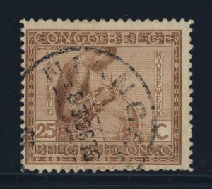 CONGO BELGE / BELGIAN CONGO - 1926 NIANGARA CAD ROND (T.5C) sur COB110 - TB