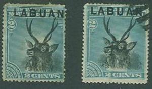 Labuan SC#50 Malayan Sambar, 2c,  MH  & Used