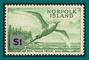 Norfolk Island 1966 Surcharge Tropic Bird, large tablet, MLH  #82,SG71