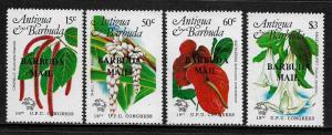 Barbuda #636-9 MNH Set - Flowers