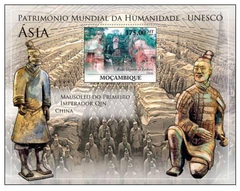 MOZAMBIQUE 2010 SHEET MNH ASIA UNESCO WORLD HERITAGE HUMANITY