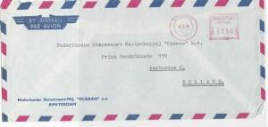 Singapore 1978 Stoomvaart-Mij. Oceaan Airmail Meter Mail Stamps Cover Ref 28746