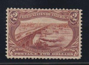 US 293 $2 Trans-Mississippi Mint with PSE F-VF OG LH Cert SCV $1900