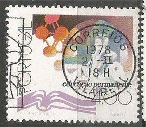 PORTUGAL, 1978, used 4e, Atom and people  Scott 1341