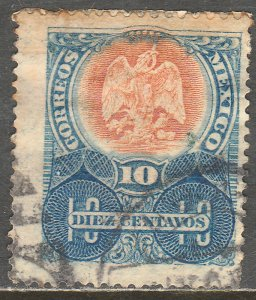 MEXICO 308, 10c MEXICO COAT OF ARMS. USED. VF. (397)
