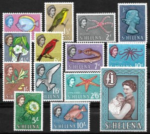 Doyle's_Stamps: MNH 1961 St. Helena Postage Stamp Set, Scott #159** to #172**