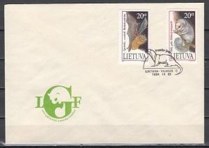 Lithuania, Scott cat. 500-501. Bat & Dormouse issue. First day cover.