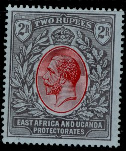 EAST AFRICA and UGANDA GV SG54, 2r red and black/blue, M MINT. Cat £24.