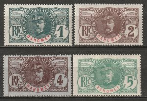 Dahomey 1906 Sc 17-20 set low values MH*