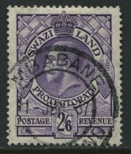 Swaziland  KGV 1933 2/6d used