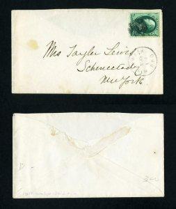 # 184 New York & Washington RPO cancel to Schenectady, NY - 5-17-1880's
