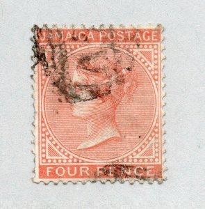 Jamaica - SG# 11a Used / wmk crown CC    -   Lot 0120097