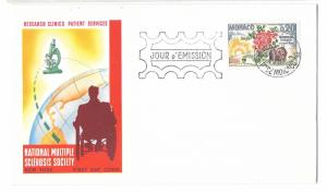 Monaco FDC Mutiple Sclerosis 1962 First Day Cover MS Society Research Sc# 506