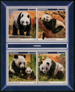 HERRICKSTAMP NEW ISSUES MOZAMBIQUE Pandas Sheetlet
