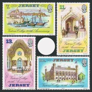 Jersey 179-182,MNH.Michel 164-167. Victoria College,125,1977.Sir Galahad,Ships.