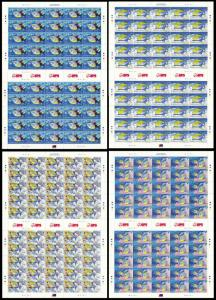 Barbados WWF Queen Triggerfish Diving Full Sheets 50 sets SG#1290-1293